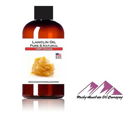 PURE ORGANIC LANOLIN OIL USP GRADE SKIN MOISTURIZING LIQUID 1 2 4 16 oz GALLON Lanolin Liquid Massage Oil