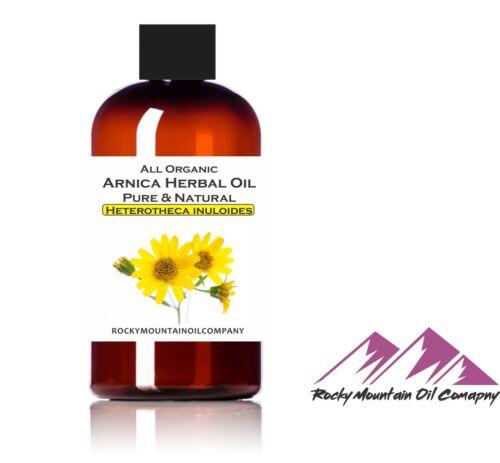 100% PURE ORGANIC ARNICA MONTANA HERBAL OIL COLD PRESSED MASSAGE