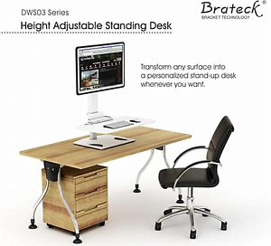 """Display Adjustable Standing Desk 13''-32"""" LED/LCD  DWS03-T01 Girraween Parramatta Area Preview"""