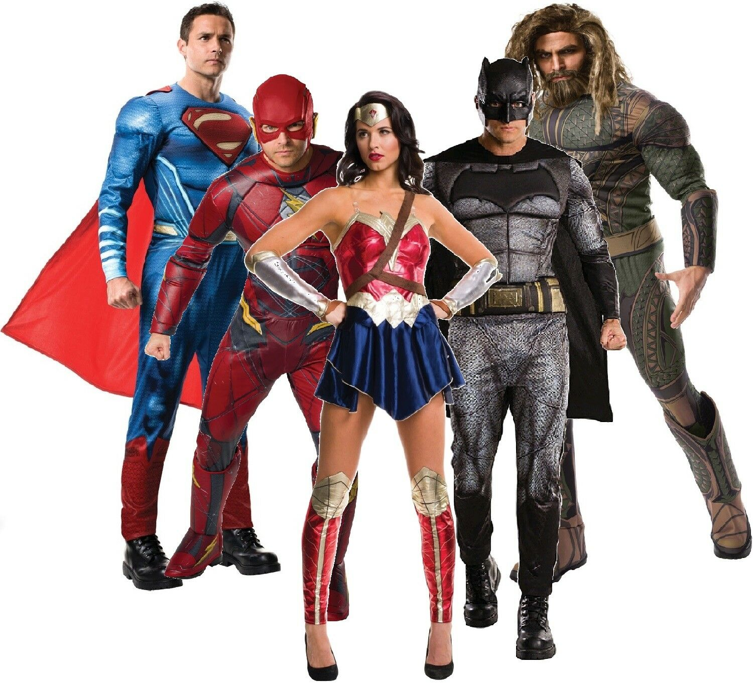 Mens Ladies Justice League Superhero DC Comic Film Fancy Dress Costume Outfits