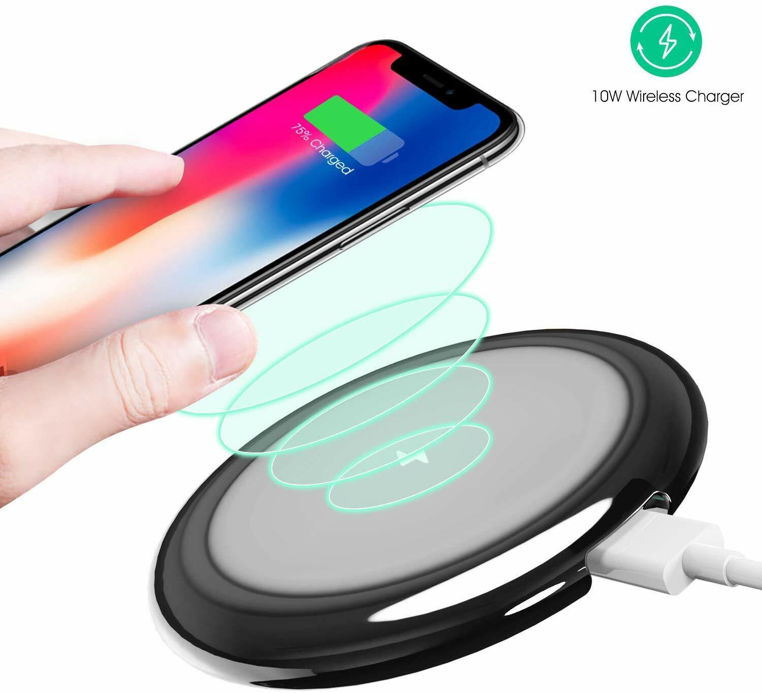 Fast Wireless Charging Pad 10W/7.5W Qi Pad IP54 Waterproof iPhone Samsung NEW Cell Phone Accessories