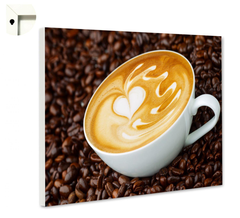 Magnettafel Pinnwand mit Motiv Küche Essen & Trinken Cappuccino
