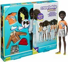 NEW Mattel Creatable World Deluxe Character Kit DC-319 Black Curly Hair