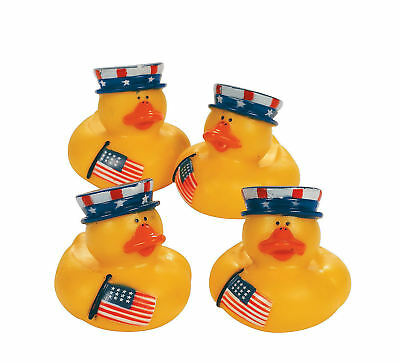 12 Patriotic Rubber Ducks party favors Cake Topper 4th of July  (4th Of July Party Favors)