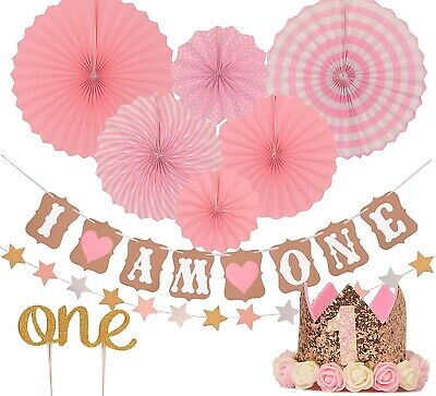 First Birthday Decoration (FIRST BIRTHDAY DECORATION SET FOR GIRL- CLEARANCE SALE - LIMITED)