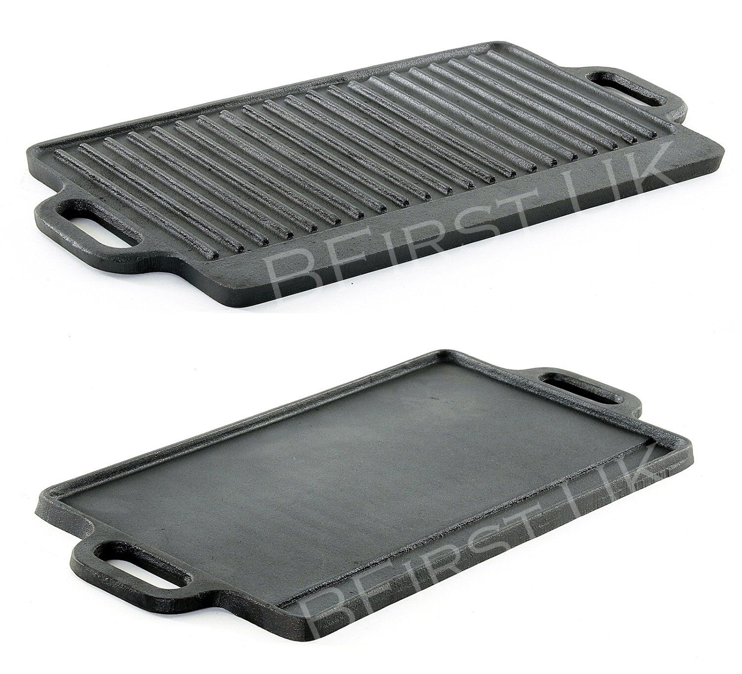 Cast Iron Non Stick Reversible Griddle Plate Fry BBQ Grill