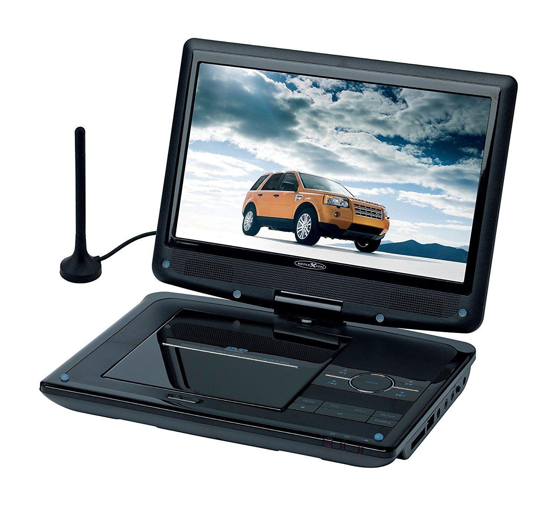 Reflexion DVD1017 Tragbarer 25,4 cm (10 Zoll) DVD-Player mit DVB-T2 HD Tuner