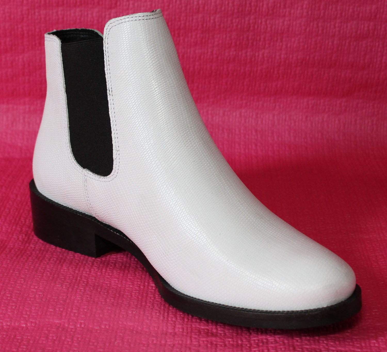 "Woman Booties Leather Chelsea White Leather Trend 2019 "" Zign "" T 40 New 1"