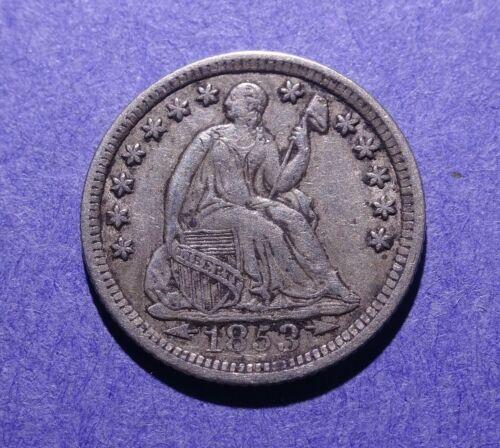 1853 w/arrows Seated Liberty Half Dime XF