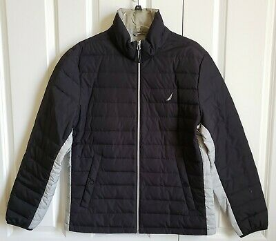 Nautica Mens Jacket Down Puffer Zip Front Size Medium