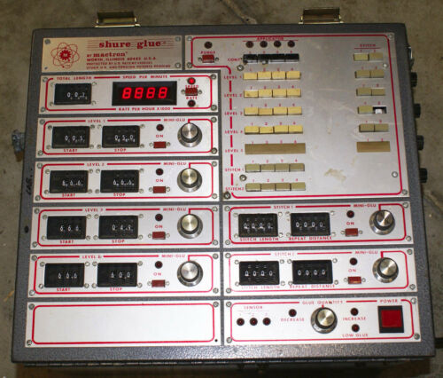 MACTRON Shure Glue Applicator Controller Mini-Glu Adhesive Control Machine