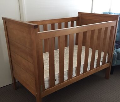Solid timber cot