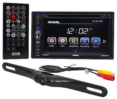 "Soundstorm DD765BR Double DIN 6.5"" Car DVD/CD/AM/FM Receiver/Bluetooth+Camera"