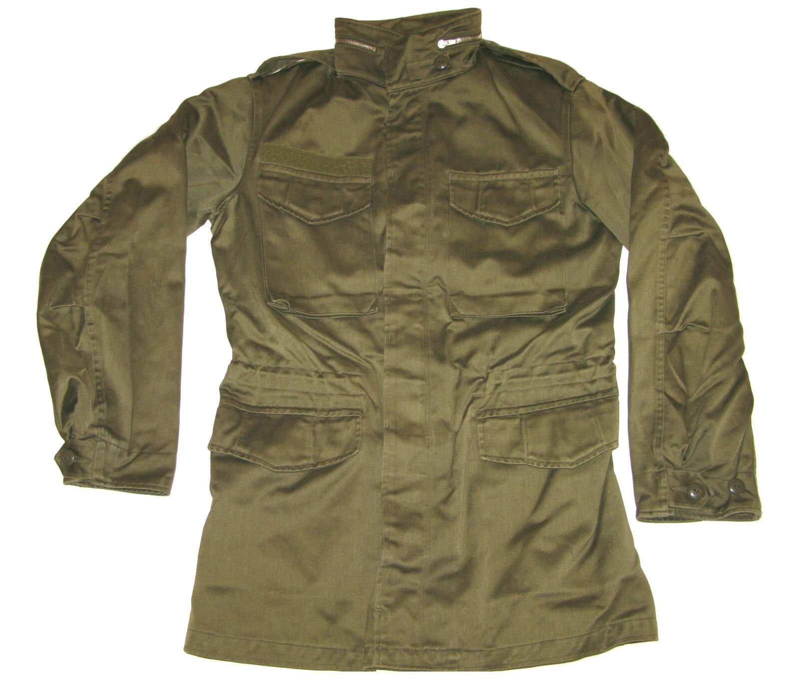 Mens Military Type Olive Drab Stone Washed Airborne Field Vintage Jacket