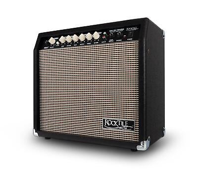 Amplificador Guitarra Electrica Amp Altavoz de 8'' 2 Canales 3-Band EQ AUX...