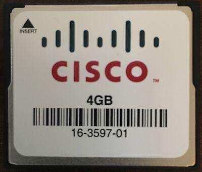 Cisco 4GB CompactFlash CF Memory Card (16-3597-01) 4 Compactflash Memory Cards