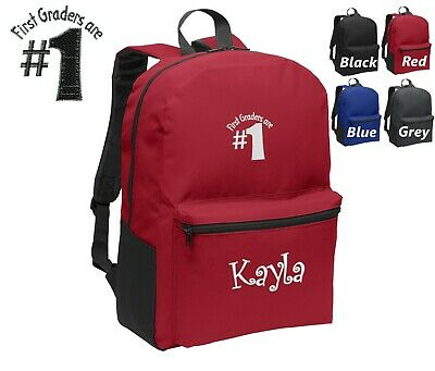 Personalized Kids Backpack Embroidered First Graders Monogrammed with Name - Kids Embroidered Backpacks
