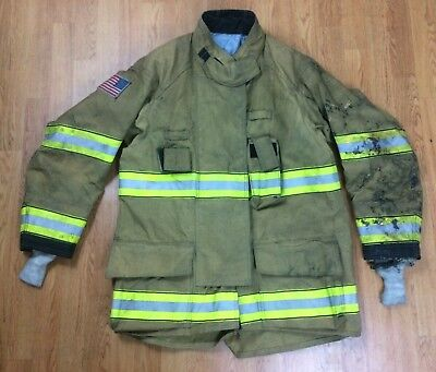 Globe G-xtreme Fire Fighter Jacket Turnout Coat W Drd 48 X 36 10