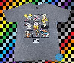 New-Cartoon-Network-Character-Group-Shot-Men-039-s-Vintage-Retro-T-Shirt