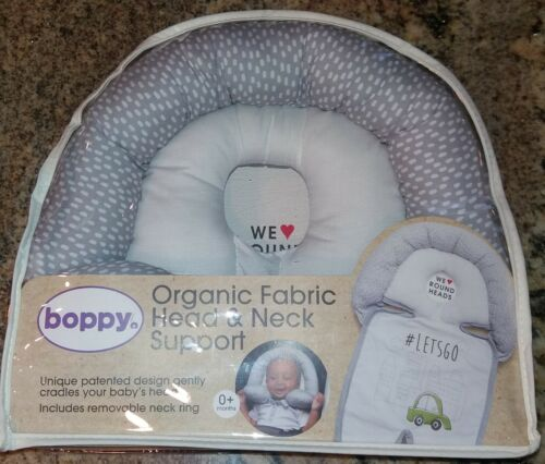 Boppy Baby Organic Head & Neck Car Support Pillow ~ Multiple Uses ~ Brand New!