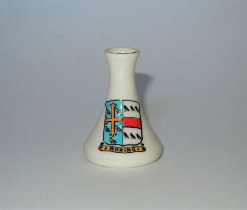 W. H. GOSS Crested Heraldic China Mini Miniature Cone Vase Woking England