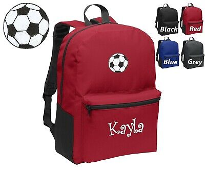 Personalized Kids Backpack Embroidered Soccer Ball Monogrammed with Name  - Kids Embroidered Backpacks