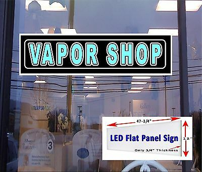 Vapor Shop 48x12 Led Flat Panel Light Box Window Sign - Others Available