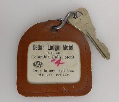 Cedar Lodge Motel, Columbia Falls, Montana MT, Vintage Hotel Key/Fob - 83988