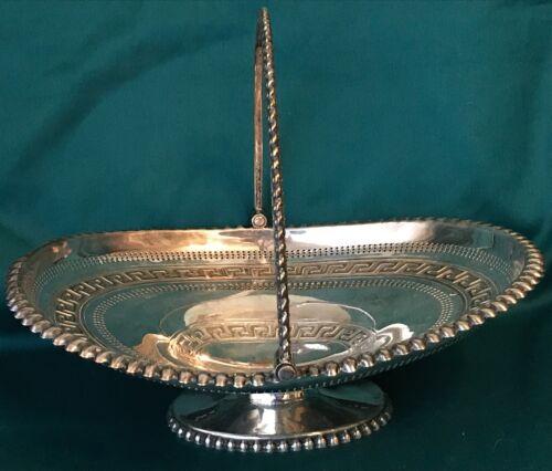 Victorian British Silver Plated Oval Bride's Basket Centerpiece c. 1890 3
