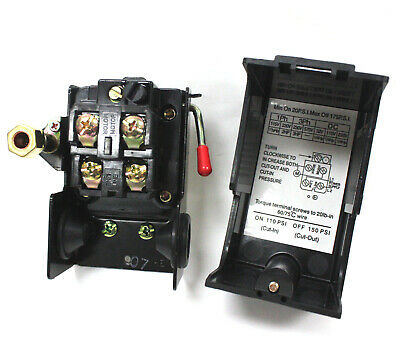 Pressure Control Switch Valve 110-150psi 4 Air Compressor Pump Onoff Lever
