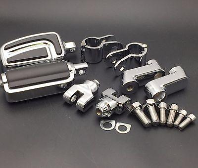 "HTTMT Cr AirFlow Foot Peg 1.25"" Mounting Bracket For Honda GL1800 VT750 Shadow"
