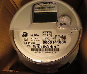 watthour meter ge i 210 digital watthour electric smart meter cl 200 240v 3w fm2s v2