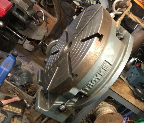 "Troyke 15"" Rotary Table Machinist Workshop Tool, Horizontal Or Vertical"