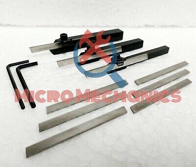 Mini Lathe Parting Cut Off Tool Holder Combo 10 - 8 - 6mm Shank 9x Hss Blade