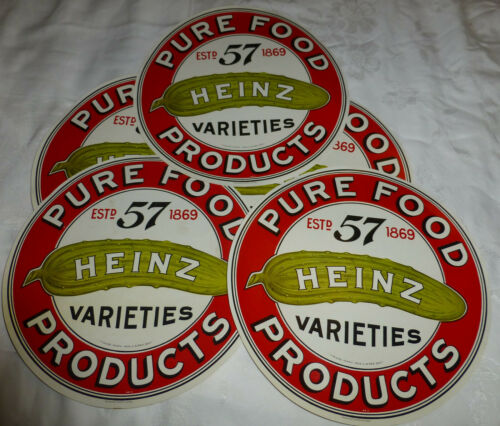 VTG Heinz 57 Large Paper Label Heinz Varieties Pure Food Products USA Made