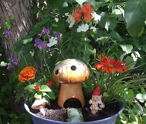 GNOME HOUSE FLOWER PLANTER!!
