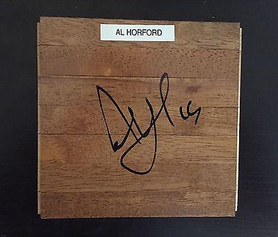 Al Horford Signed Autographed 6x6 Floor piece Parquet Wood NBA Auto Celtics!!
