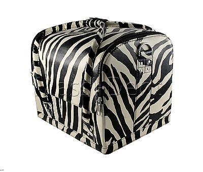 Beauty case Kosmetikkoffer, Multikoffer, Schminkkoffer Nagelstudio set Zebra