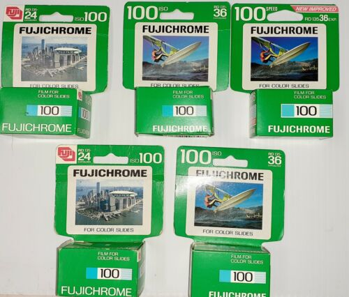 X5 FUJICHROME 100 35mm Color Film 3 ARE 36 EXP 2 ARE 24 EXP FREEZED SEALED  - $19.99