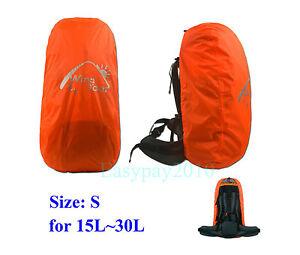 Orange-Size-S-Waterproof-Dustproof-Backpack-Rucksack-Rain-Cover-for-15L-30L-Bag