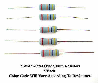 220-ohms 2-watt Metal Oxidefilm 2 Resistors Mfg. Nte 5pack Great Price