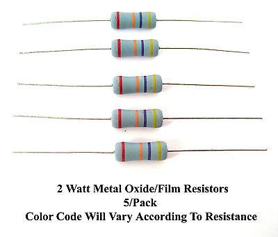 2.2k-ohms 2-watt Metal Oxidefilm 2 Resistors Mfg. Nte 5pack Great Price