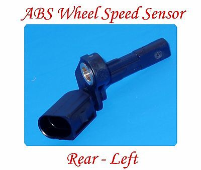 Audi Abs Speed Sensor - ABS Wheel Speed Sensor Rear Left Fits: AUDI A3 TT VW BEETLE CC EOS GOLF JETTA &