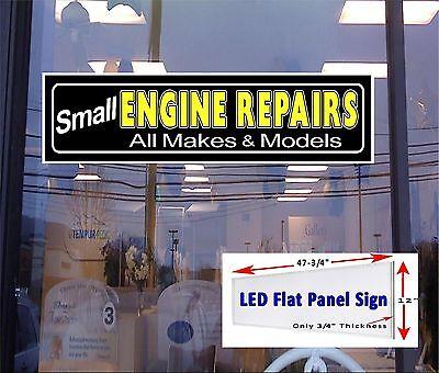 Small Engine Repairs Led Illuminated Window Sign 48x12