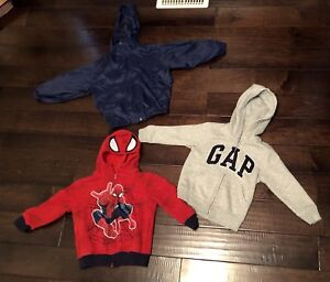 Gap spiderman and trails end fold up into pocket jacket size 4-5