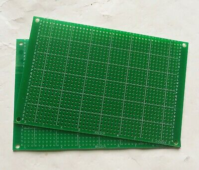 2pcs Single Side Fr-4 Pcb Prototyping Perf Board Breadboard Diy 8x12cm 80x120mm