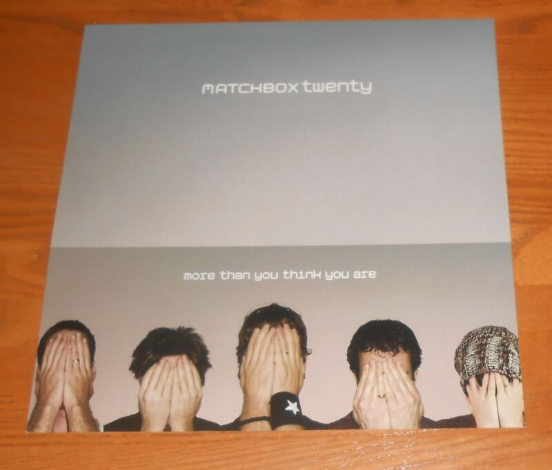 Matchbox Twenty More Than You Think You Are Poster Flat 2002 Promo 12x12