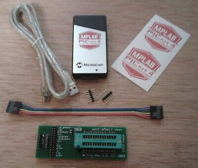 Icsp Adapter Zif 28 Pic W Authentic Pickit 4 Usb Programmer