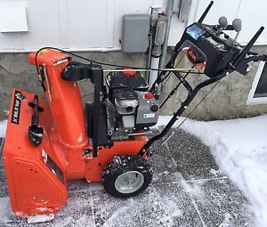 """Compact 24 2-Stage Electric Start Gas Snow Blower 24"""" Width"""
