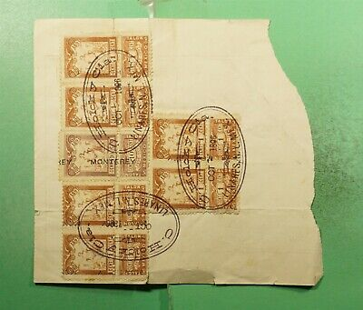 DR WHO 1896 MEXICO DOCUMENT WITH REVENUE  g21700